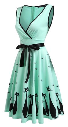 Oh my! What a cute vintage style kitty dress!