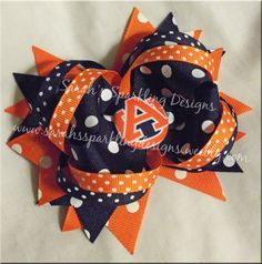 Auburn Tigers Inspired Boutique Bow by BowsandMorebyJenn on Etsy, $9.00