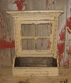 Have one to sell? Sell it yourself    Window Sill Wood Plant/Flower/Mail/Candle/Spice Box*Primitive Decor*Oatmeal Tan