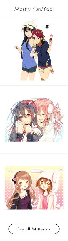 """Mostly Yuri/Yaoi"" by bvbluver66 ❤ liked on Polyvore featuring anime, madoka, madoka magica, manga, anime girl, people, shoujo-ai, strawberry panic, vocaloid and anime girls"