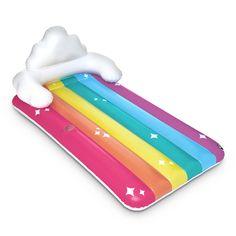 Rainbow Cloud Pool Float by World Market Pool Toys And Floats, Cute Pool Floats, Rainbow Pools, Rainbow Cloud, Baby Girl Toys, Toys For Girls, Pool Lounge, Unicorn Bedroom, Pool Accessories