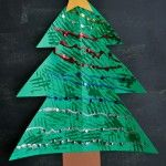 Christmas Tree Fork Painted Craft