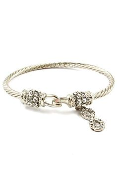 Classic Cable Pave Infinity Bracelet <3 Reminds me of David Yurman