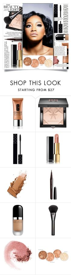 """""""Untitled #191"""" by natalie1523 ❤ liked on Polyvore featuring beauty, Clinique, Givenchy, Gucci, Chanel, Marc Jacobs, NARS Cosmetics, Anja, Terre Mère and H&M"""