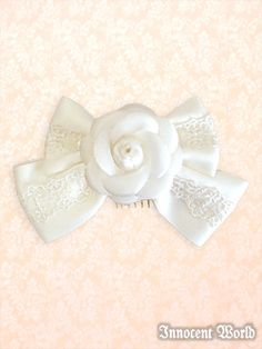 Lolibrary | Innocent World - Hair accessories - Rose Corsage Ribbon Comb