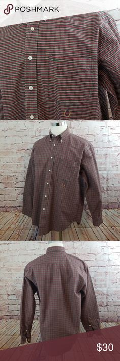 1144d0f9c2dd1 ... Red Green Navy plaid Heavier oxford cloth material Specific item flat  measurements Chest Sleeve Length Tommy Hilfiger Shirts Casual Button Down  Shirts