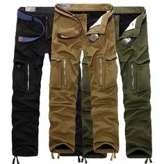 ChArmkpR Thick Loose Mens Winter Polar Fleece Lined Windproof Cargo Pants - Banggood Mobile