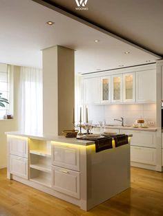 Der feine Landhaus-Stil mit moderner Beleuchtung