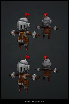 Knight low poly 3D by ~Sephiroth-Art on deviantART