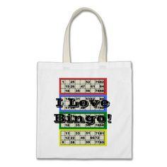90 Ball I Love Bingo Tote Bags
