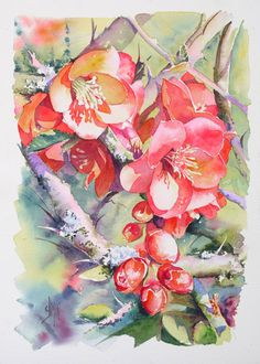 What To Search For Right Before You Purchase Your Higher Than Floor Pool Aquarelles Jol Simon Watercolor And Ink, Watercolour Painting, Watercolor Flowers, Painting & Drawing, Watercolours, Art Floral, Art Aquarelle, Watercolour Tutorials, Beautiful Paintings