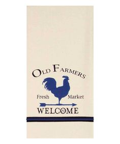 Loving this Blue 'Old Farmers' Rooster Dish Towel on #zulily! #zulilyfinds