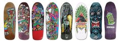 A few skateboards I used to own. Wish I still had these; I would frame them.     www.aspectsclothing.com