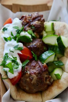 Grilled Lamb Gyro Wraps and Greek Tzatziki Sauce are made in minutes on the grill. A tasty lamb recipe, gyro recipe, and summer recipe! Recipes Using Lamb, Goat Recipes, Greek Recipes, Healthy Recipes, Healthy Meals, Leg Of Lamb Gyro Recipe, Gyro Wrap, Ground Lamb Recipes, Beef Gyro