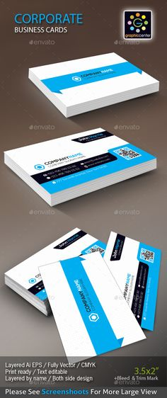 Corporate Business Card Corporate Business Business Cards And - 35 x2 business card template