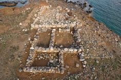 A large shipshed on Mirabello Bay was originally excavated by Boyd in 1901, and was reexamined and cleared by the new team several years ago.