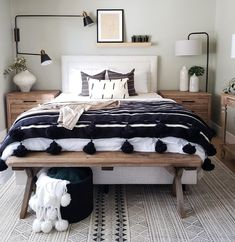 Get inspired by Eclectic Bedroom Design photo by Room Ideas. Wayfair lets you find the designer products in the photo and get ideas from thousands of other Eclectic Bedroom Design photos. Home Interior, Interior Design, Interior Livingroom, Interior Ideas, Home Bedroom, Bedroom Ideas, Tiny Master Bedroom, Bedroom Designs, Mid Century Modern Master Bedroom