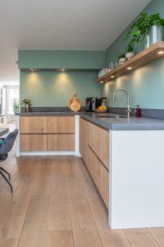 Kitchen Room Design, Kitchen Cabinet Design, Modern Kitchen Design, Interior Design Kitchen, Kitchen Decor, Kitchen Rules, New Kitchen, Apartment Kitchen, Home Deco