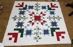 Star Quilt Blocks, Star Quilt Patterns, Star Quilts, Mini Quilts, Christmas Quilting Projects, Snowflake Quilt, Fabric Panel Quilts, Quilting Designs, Quilting Ideas