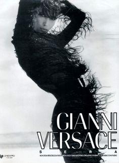 Christy Turlington for  GIANNI VERSACE,   1990