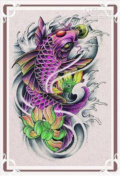New Fish Flash Tattoo Book A3 size Tattoo Flash free shipping
