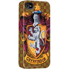 Harry Potter Gryffindor Crest iPhone Case |  WBshop.com | Warner Bros. ($40) ❤ liked on Polyvore