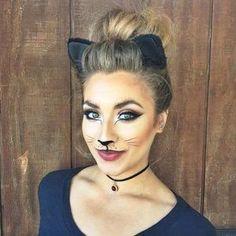 Beautiful Cat Halloween Makeup Look