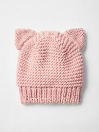 "diy_crafts- Cat metallic knit beanie Product Image ""This post was discovered by yas"", ""Shop shoes for toddlers girls at Gap. Beanie Pattern Free, Baby Hat Knitting Pattern, Baby Hat Patterns, Baby Hats Knitting, Knit Patterns, Free Knitting, Knitted Hats, Diy Crafts Knitting, Knitting Projects"