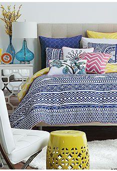 Moroccan Bedding Cynthia Rowley Moroccan 3pc Queen Quilt