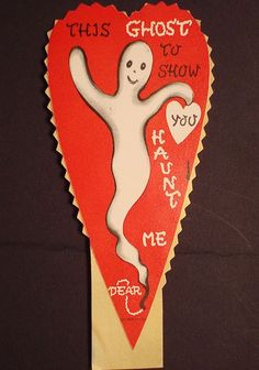 Vintage Valentines: Ghost, Witches & Skeletons