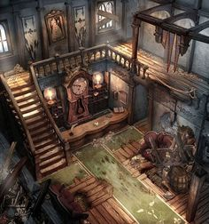 Concept art fantasy house rpg Ideas for 2019 Environment Concept Art, Environment Design, Fantasy House, Fantasy World, Final Fantasy, Fantasy Art, Fantasy Rooms, Level Design, Fantasy Places