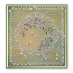 Hobbies And Crafts, Crafts To Make, Parchment Design, Parchment Cards, Pastel Background, Creation Deco, Bee Happy, Paper Cards, Plate Sets