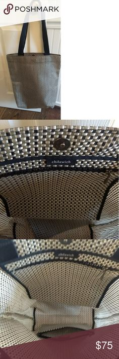 0b39b9ab9c3d Chilewich Woven Tote Bag is in Excellent condition and includes zip pouch.  Features durable woven nylon