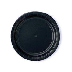 Isot lautaset, musta