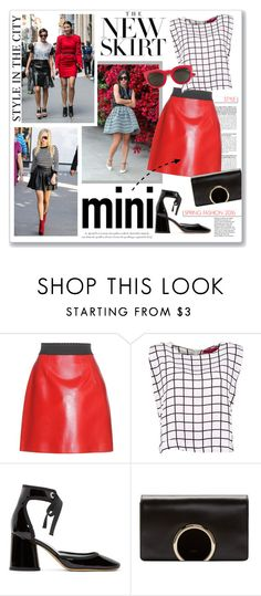 """""""City mini"""" by clovers-mind ❤ liked on Polyvore featuring White Label, Dolce&Gabbana, Marc Jacobs, Chloé, Yves Saint Laurent, Agent Provocateur, StreetStyle, MINISKIRT and 2016"""