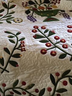 Quilting by Sun Porch quilts: Beyond the Cherry Tree quilt by Alice.  2015 AQS Quilt Week - Paducah