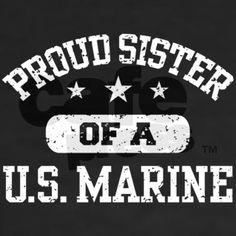 Proud Marine Sister Shirt on CafePress.com