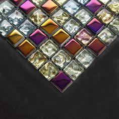 multi colored glass mosaic tile for backsplash - Google Search