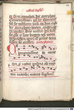 Liber ordinarius der Cistercienserschwestern von Kommunion, letzter Ölung, Tod und Leichenfeier 1439  Cgm 78  Folio 64r