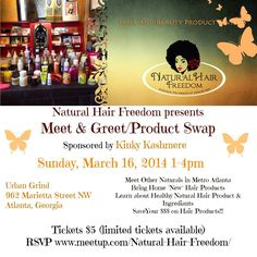 Natural Hair Freedom Meet and Greet sponsored by Kinky Kashmere