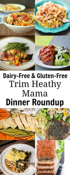 Dairy-free and Gluten-free Trim Healthy Mama Dinner Roundup. Delicious THM recipes that fit your allergy needs. Many are low-carb.