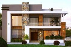 Most-Amazing-Modern-Exteriors-8 Best Modern House Design, Modern Exterior House Designs, Modern Architecture House, Exterior Design, Modern House Facades, Architecture Design, Modern Design, 2 Storey House Design, Duplex House Design
