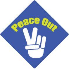 Peace Out Tassel Topper #graduation