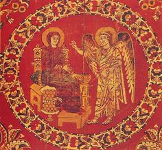Made in Alexandria or Egypt, Syria, Constantinople (? Weft-faced compound twill (samit) in polychrome silk. Textile Museum, Textile Art, Aachen Cathedral, Medieval Paintings, Winged Horse, Early Christian, Christian Art, Byzantine Art, How To Dye Fabric