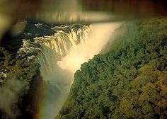 Victoria Falls, Zambia. The largest waterfall in the world.