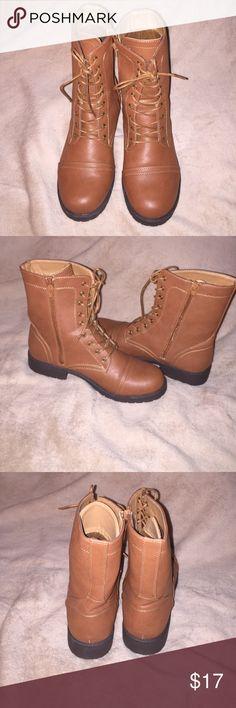 Chestnut Brown Boots- 10 Chestnut Brown Boots- 10. Worn once. Cute and comfy. Shoes Combat & Moto Boots