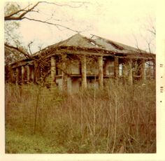 https://flic.kr/p/93F9A1 | Seven Oaks-1972 | Seven Oaks Plantation, in ruins, West Bank, above New Orleans, about Feb. or March, 1972.
