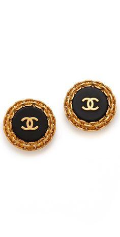WGACA Vintage Vintage Chanel Edge Earrings