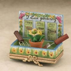"""Limoges """"I Love Gardening"""