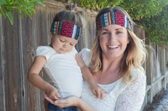 Thick Colorful Tribal Print Headband  Soft by LucillePaige on Etsy - Sometimes matchy matchy is great fun - #LucillePaige #SFEtsy